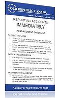 accident checklist book